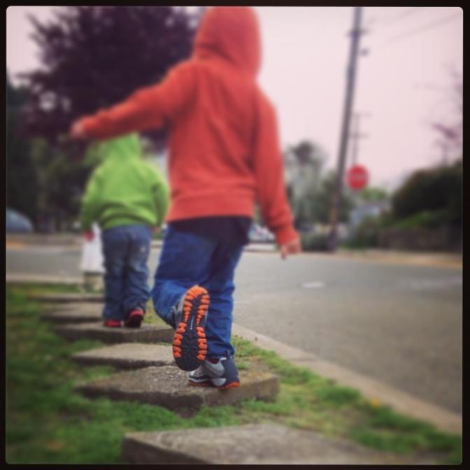 The sidewalk as playground