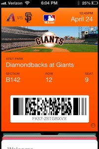 """My """"not a ticket really"""" Passbook ticket"""