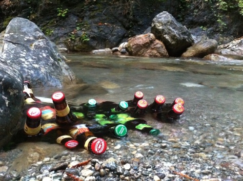 Warm beer cooling in Big Creek