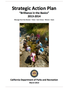 Brilliance in the Basics -- a new strategic plan for State Parks