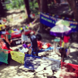 Prayer Flags add color to the park