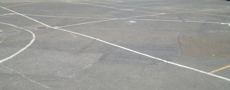 Lines mark space in the playground