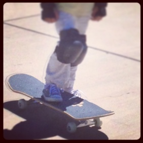 Cruising in the skateboard park