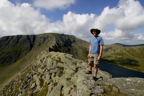 The aptly named Striding Edge, Lake District National Park