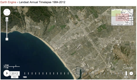 Santa Monica City and Bay in Earth Engine (click for slideshow)