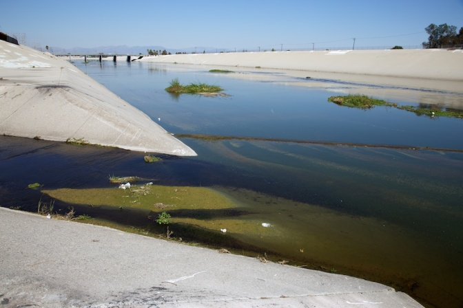 Compton Creek joins the LA River