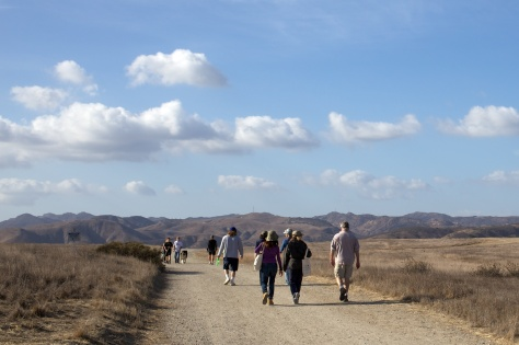 Hikers enjoy Ahmanson Ranch