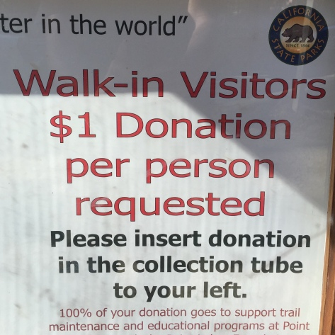 Please donate $1 to support the park